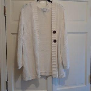 Liz Claiborn cable knit 100% cotton  boyfriend  sw